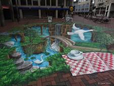 Straatartiesten verfraaien Arnhemse binnenstad met natuurtekeningen