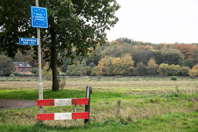 De Nederlands-Duitse grens bij Groesbeek.