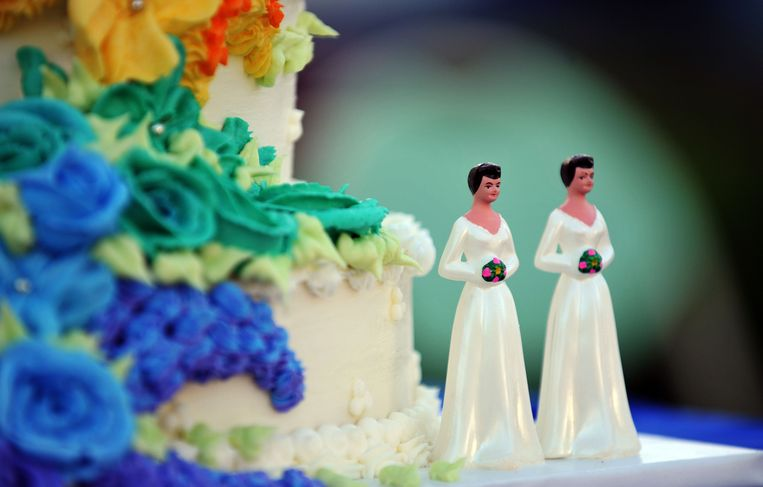 Curaçao moet het homohuwelijk toestaan, aldus een rechterlijke uitspraak. Het druist in tegen de Curaçaose grondwet. Beeld ter illustratie. Beeld Hollandse Hoogte / AFP