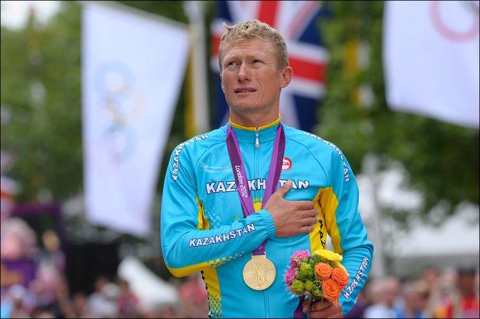 Vinokourov won op de Spelen in Londen nog goud.