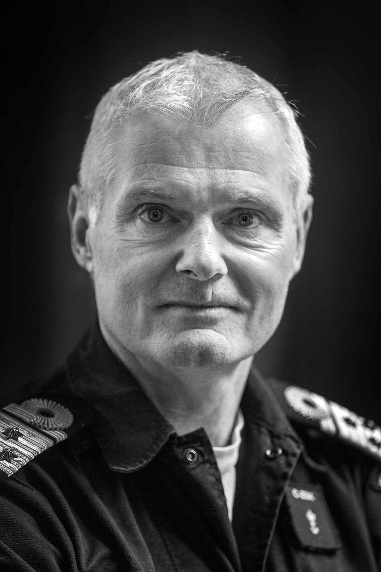 Vice-admiraal Rob Kramer, Commandant Zeestrijdkrachten. Hij heeft sinds 2017 de leiding over de Koninklijke Marine. Hij leidde onder meer de VN-missie tegen Somalische piraterij.  Beeld Werry Crone