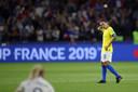De Braziliaanse voetballegende Marta lijkt haar laatste WK-duel voor Brazilië te hebben gespeeld.