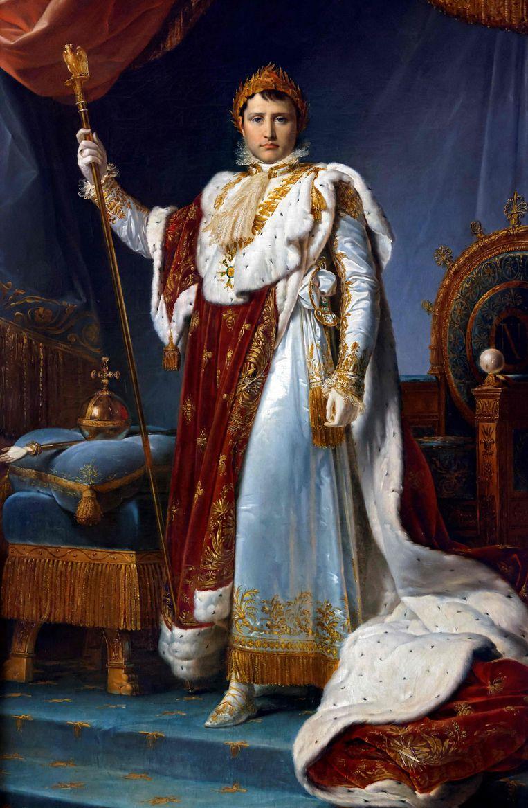Francois Gerard  portretteerde Napoleon Bonaparte in keizerlijk kostuum.  Beeld AFP