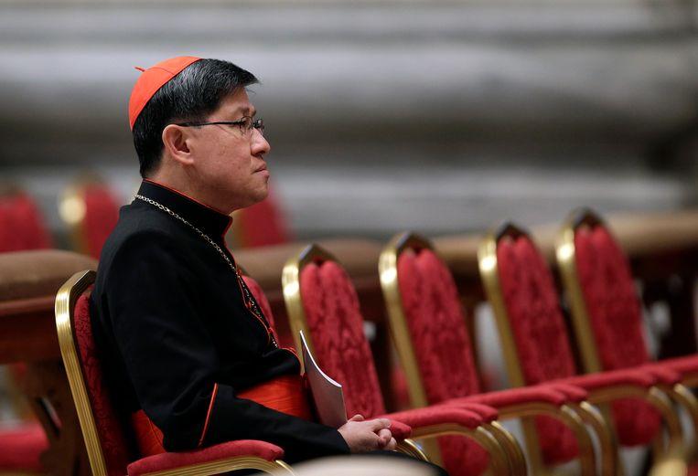 Paus Franciscus haalde de Filipijnse kardinaal Luis Antonio Tagle naar Rome. Wordt hij zijn opvolger? Beeld REUTERS