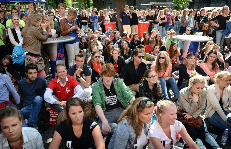 Introductieweek studenten in Utrecht, 2013.  Beeld Marcel van den Bergh / de Volkskrant