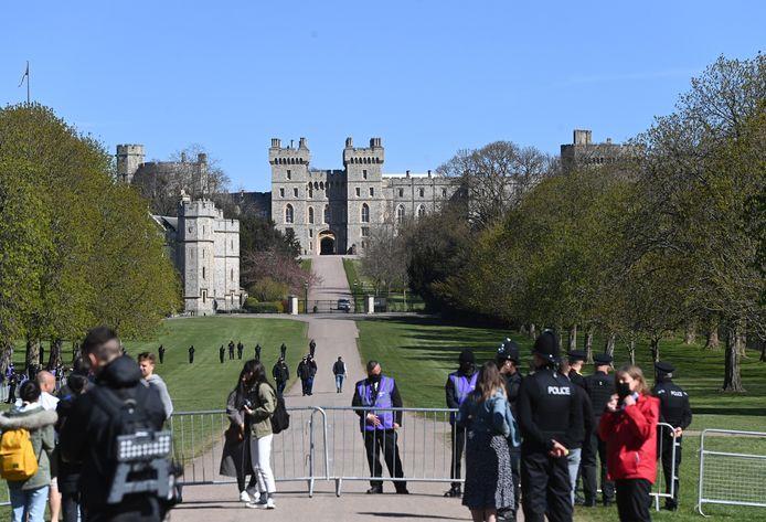 Politie en barricades aan Windsor Castle.
