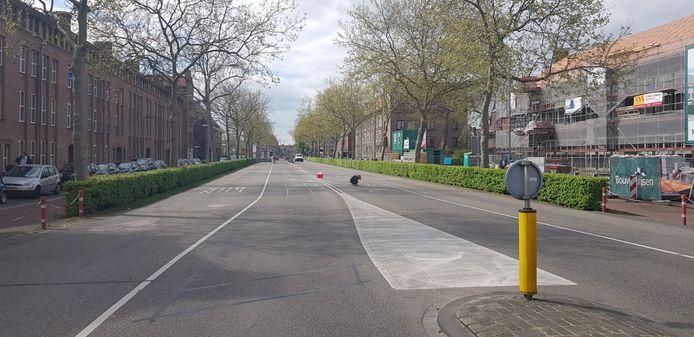 De Aartshertogenlaan is van de Orthenseweg tot de rotonde met de Rompertsebaan afgesloten