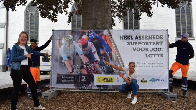 Assenede duwt Lotte Kopecky naar olympisch goud: banners en affiches kleuren heel het dorp