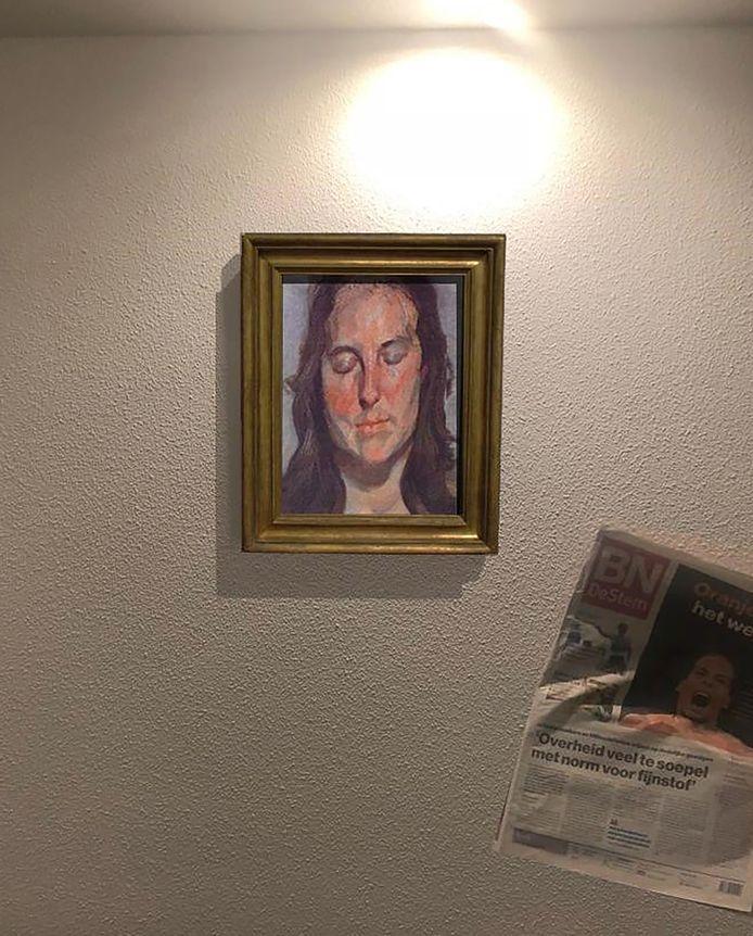 Een krant van vorig jaar bewijst dat het werk van Lucian Freud niet vlak de roof uit de Kunsthal in 2012 verloren ging.