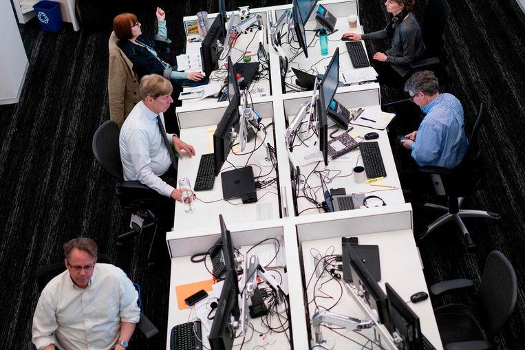 De newsroom van The Washington Post. Beeld AFP