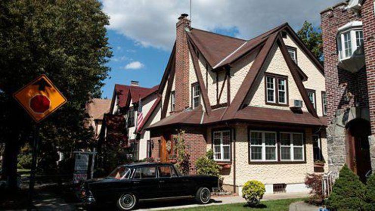 Het huis in Queens waar Donald Trump opgroeide. Beeld Getty