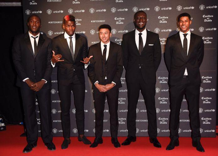 Romelu Lukaku, Paul Pogba, Jesse Lingard, Stormzy and Marcus Rashford