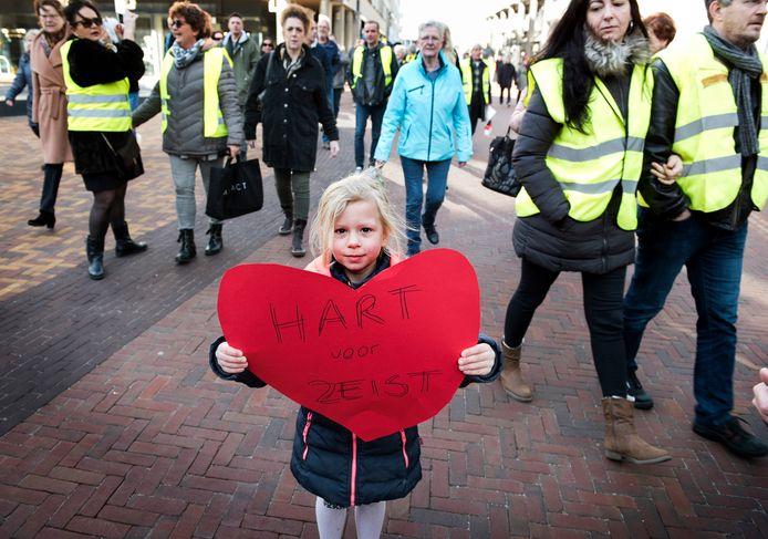 In februari van dit jaar werd gedemonstreerd tegen de verkeersmaatregelen in Zeist.