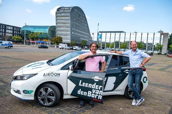 Breda - Stephan La Haye van AirQon (l) en Wethouder Daan Quaars (r)