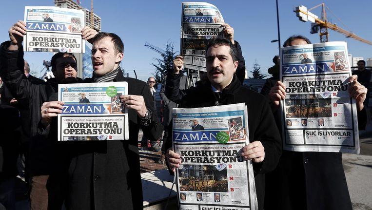 Zaman gold als een van de laatste kritische kranten in Turkije. Beeld Epa