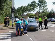Fietsster botst op auto op kruising Zegwaartseweg