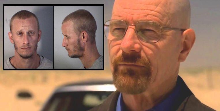 Acteur Bryan Cranston vertolkte vijf seizoenen lang het personage 'Walter White' in de tv-serie Breaking Bad. Inzet: de echte Walter White (24).