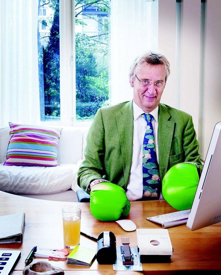 Boudewijn Poelmann: 'Wist je dat zelf energie opwekken ook ontzettend leuk is?' FOTO © JÖRGEN CARIS Beeld