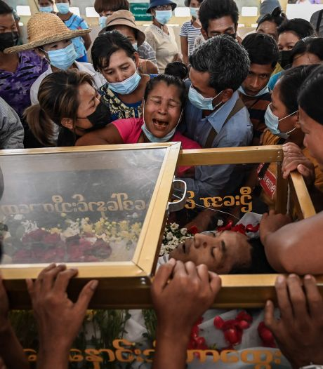 Wie de macht van het leger in Myanmar aantast, wordt met grof geweld afgestraft