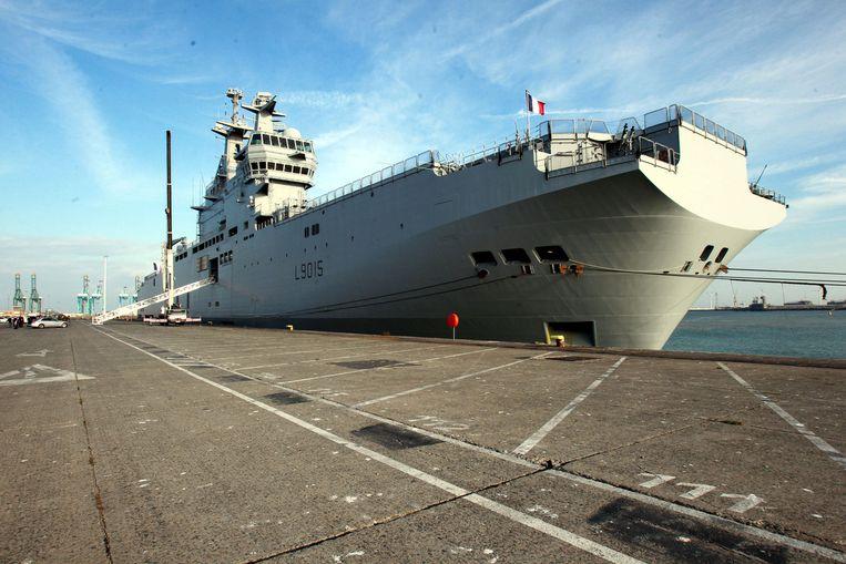 Illustratiefoto van een Frans oorlogsschip.