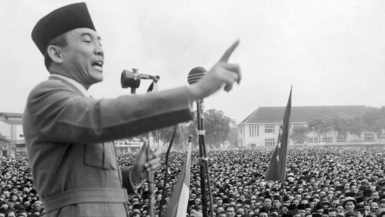 Sukarno, de eerste president van de Republiek Indonesië, in 1945. Beeld afp