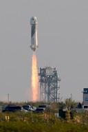 Rond 15.15 uur ging de raket de lucht in.