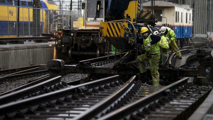 Spoorwerkzaamheden bij Amsterdam Centraal