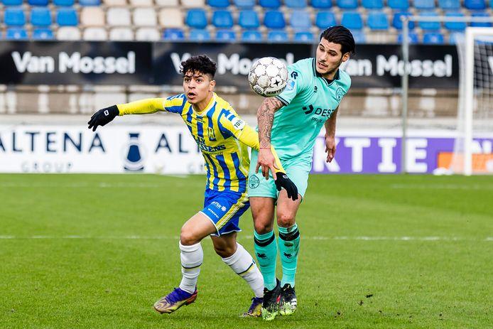 Het duel tussen RKC en Willem II eerder dit seizoen in Waalwijk.
