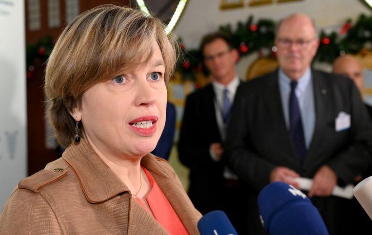 Catherine De Bolle, hoofd van Europol. Beeld Carsten Rehder/dpa