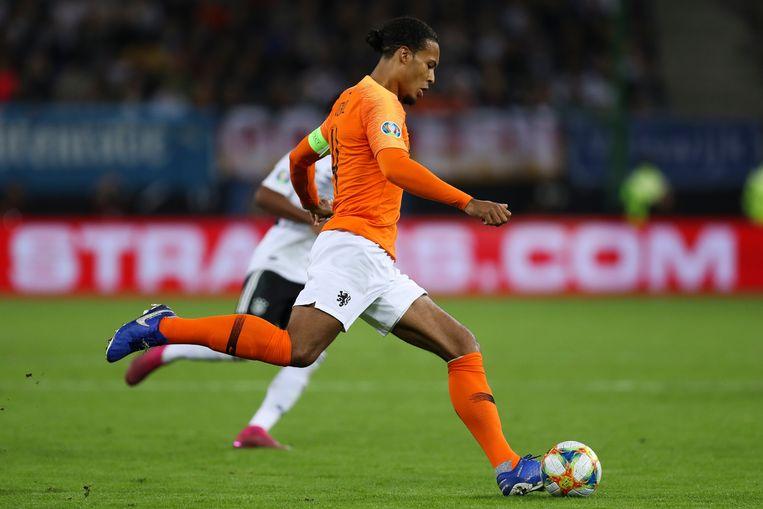 Virgil Van Dijk is wat Van Gaal betreft weer welkom in Oranje. Beeld Bongarts/Getty Images