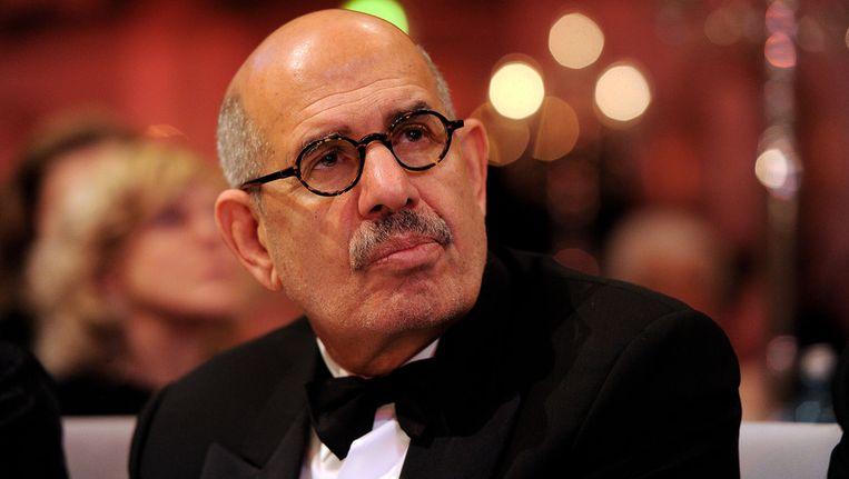 Oppositieleider Mohamed ElBaradei. Beeld getty