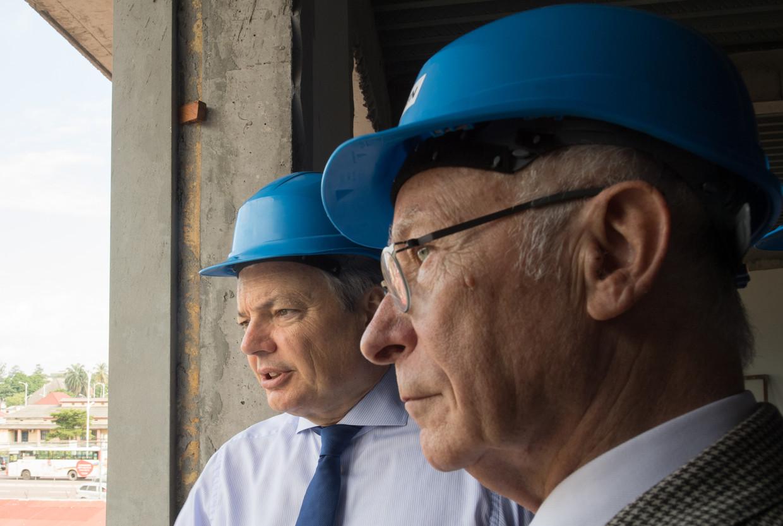 'Reynders en Fontinoy begrepen snel dat in de omgeving van de grote stations dingen stonden te gebeuren: ze hadden gouden informatie in handen voor vastgoedmakelaars.' Beeld BELGA