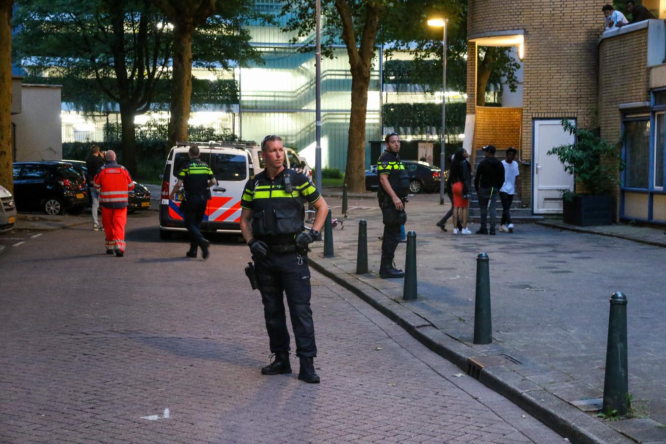 De politie wist aan de Diergaardesingel een verdachte aan te houden.