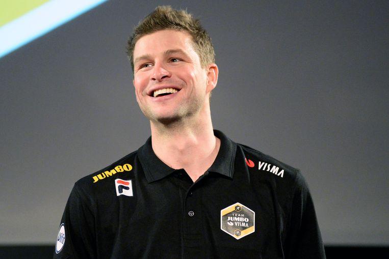Sven Kramer, woensdag tijdens de ploegpresentatie. Beeld BSR Agency