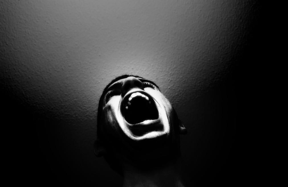 'Scream', de originele foto van Noam Galai.