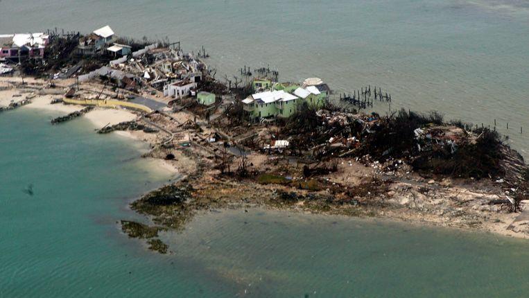 Verwoestingen door orkaan Dorian op de Bahama's. Beeld EPA