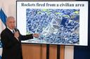 De Israëlische premier Benjamin Netanyahu tijdens een eerdere briefing over de acties aan ambassadeurs van zijn land.