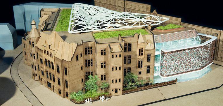 De eerste optie moet een opvallend atrium krijgen. Beeld MVSA Architects