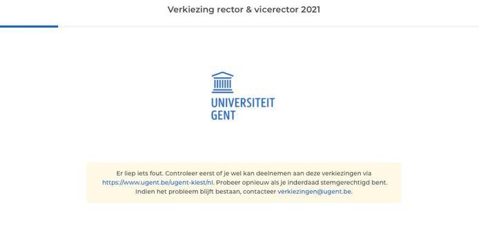 Screenshot Rectorverkiezingen 2021.