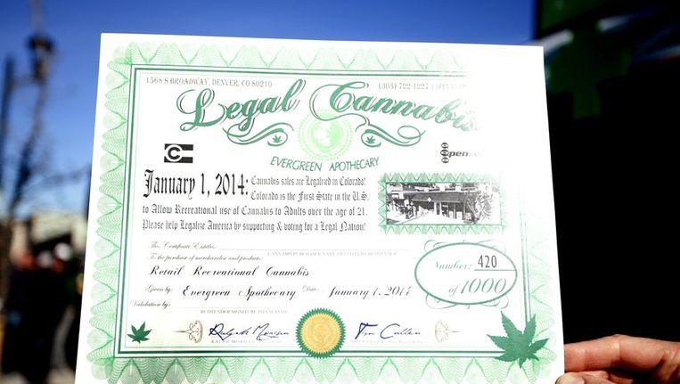 In Colorado is cannabisverkoop sinds 1 januari toegelaten. Beeld PHOTO_NEWS