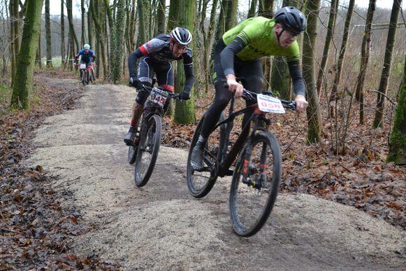 Een beeld uit een vorige editie van de mountainbike- en cyclocrosswedstrijd GP Vos Brecht.