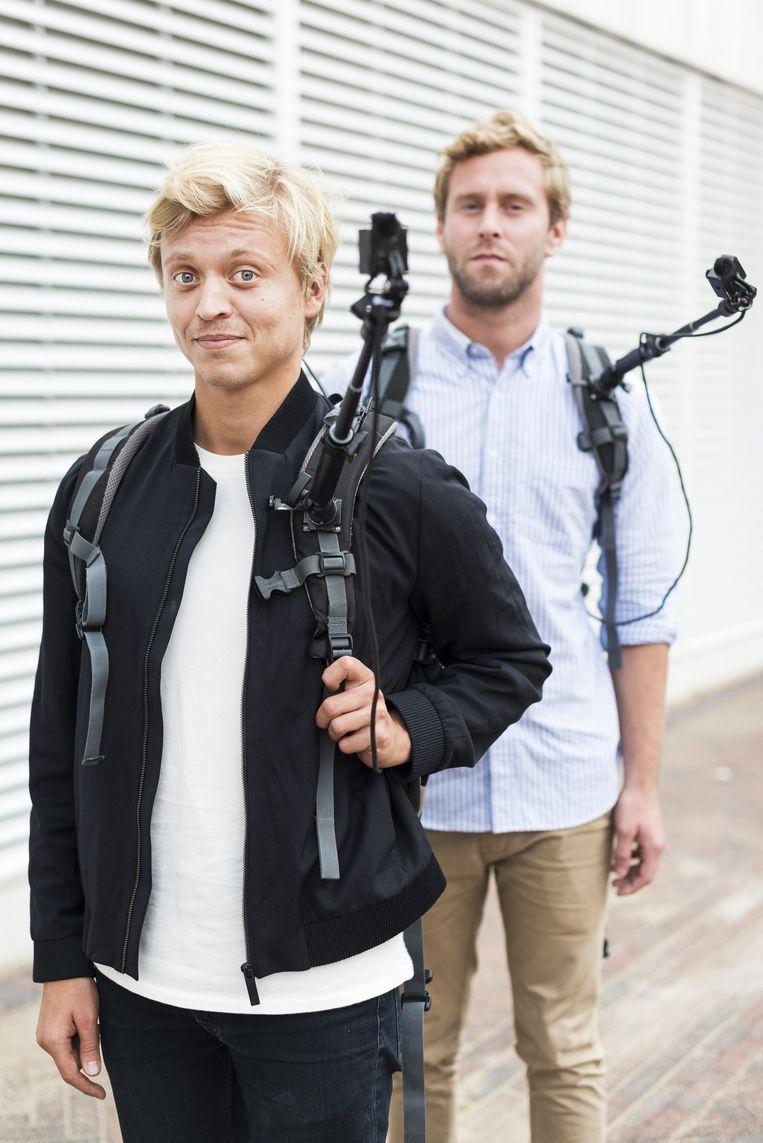 Nicolaas Heul en Tim den Besten hielden het uiteindelijk 16 dagen vol om 24/7 live gevolgd te worden. Beeld Maarten Steenvoort