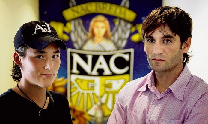 Nemanja Gudelj en vader Neboja, rechtspoot en links-poot bij NAC in 2007.