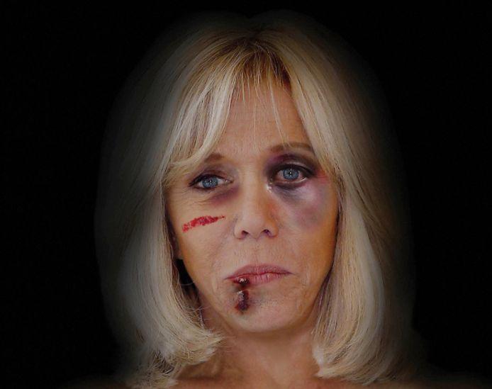 Des traces de coups ont été ajoutées sur le visage de l'épouse d'Emmanuel Macron.