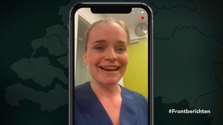 Verpleegster Kim in Frontberichten (BNNVara) Beeld BNNVara