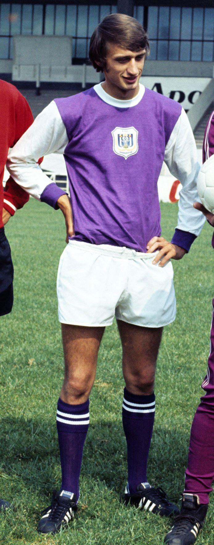 Rensenbrink in 1971 — op de voorstelling bij Anderlecht — ...