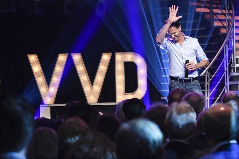 Mark Rutte tijdens het jaarlijkse VVD-festival. Beeld ANP