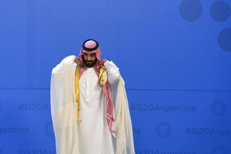 Archiefbeeld, de Saudische kroonprins Mohammed bin Salman bin Abdulaziz al-Saud op de G20-top. Beeld EPA