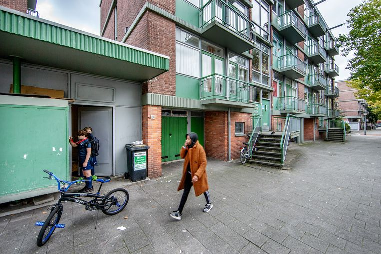 Om de sloop van de monumentale panden in de Nolensstraat in Geuzenveld is veel te doen geweest. Beeld Jean-Pierre Jans