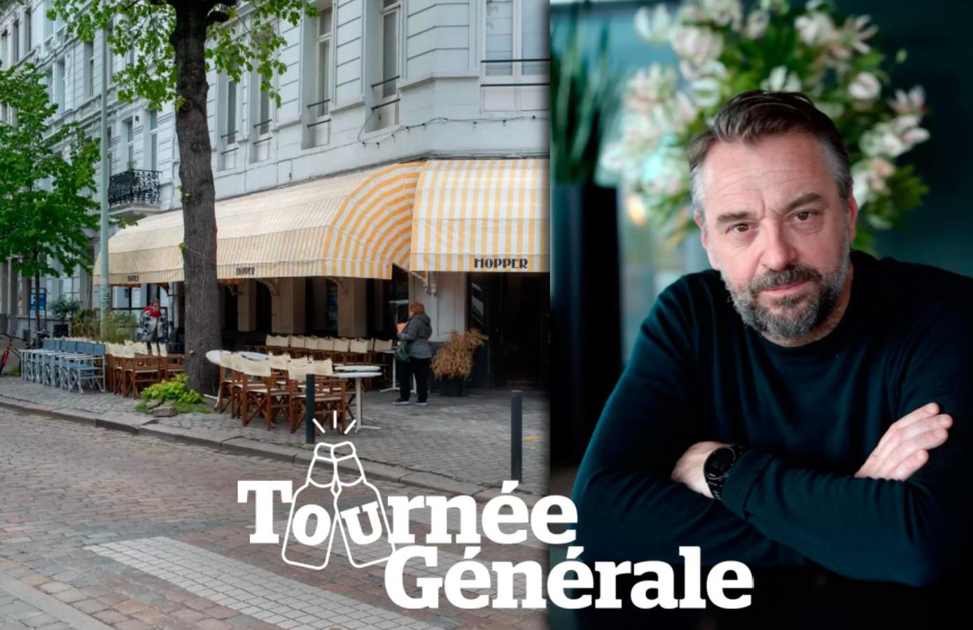 Tom Waes kijkt uit naar zijn eerste pint op het terras van Café Hopper.